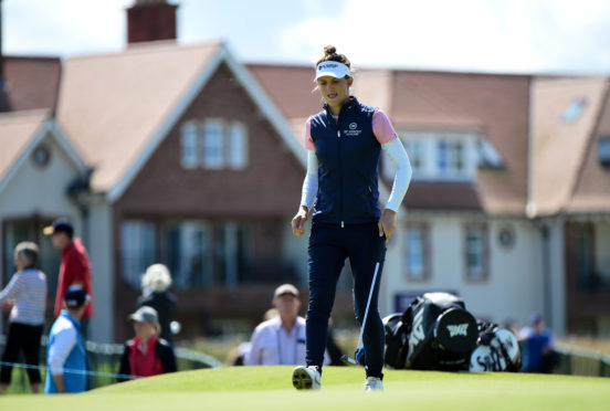 Anne Van Dam of Netherlands putting at the 9th hole during the first day at the Aberdeen Standard Investment Ladies Scottish Open.