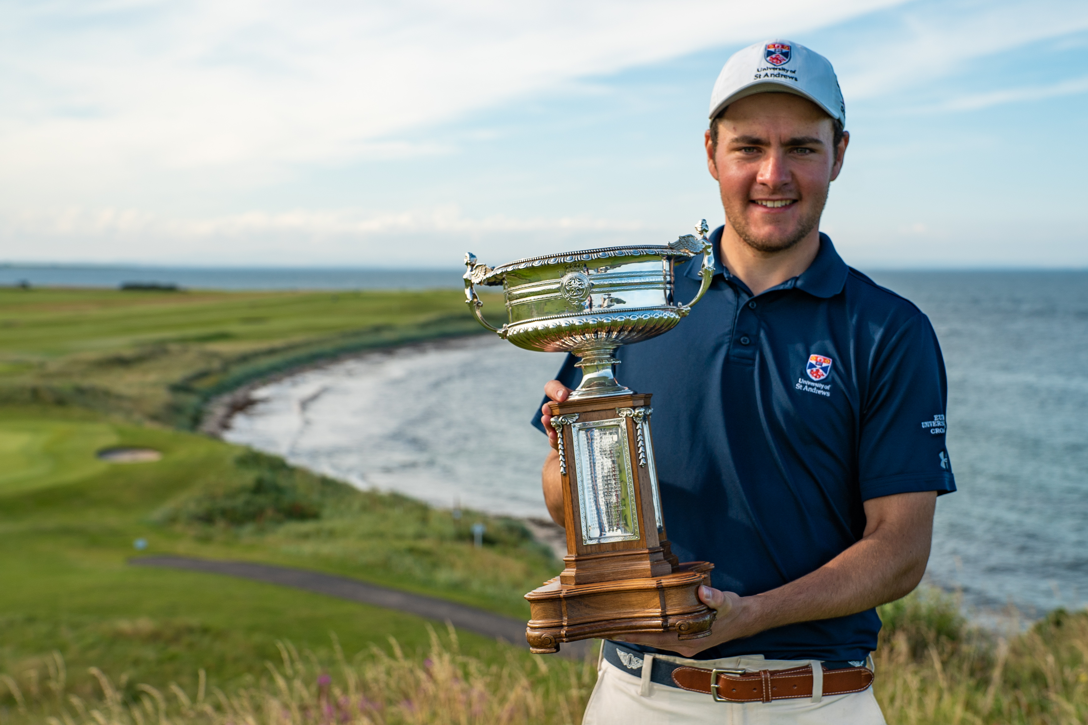 George Burns won the Scottish Amateur last year at Crail.