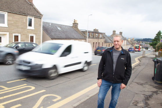 Resident Graeme Laird is calling for traffic calming measure's on Forfar's Dundee Road.