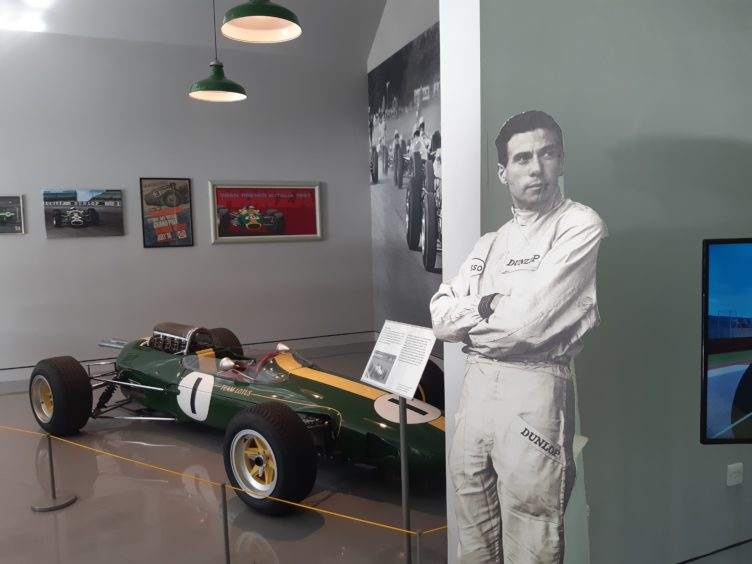 Clark's Lotus 25 on display in the new museum.