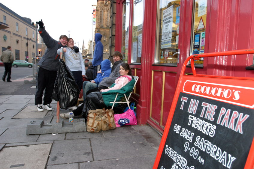 Music fans would queue up outside the store every year to grab tickets before they went on sale.
