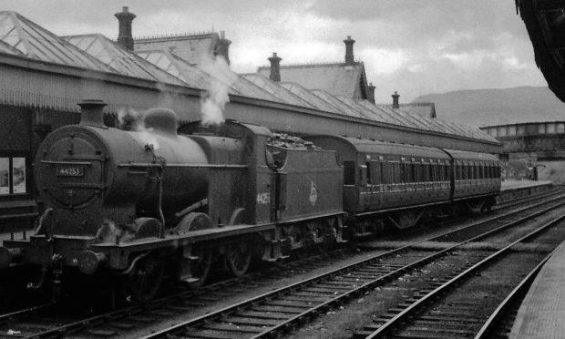 Crieff station, around 1960