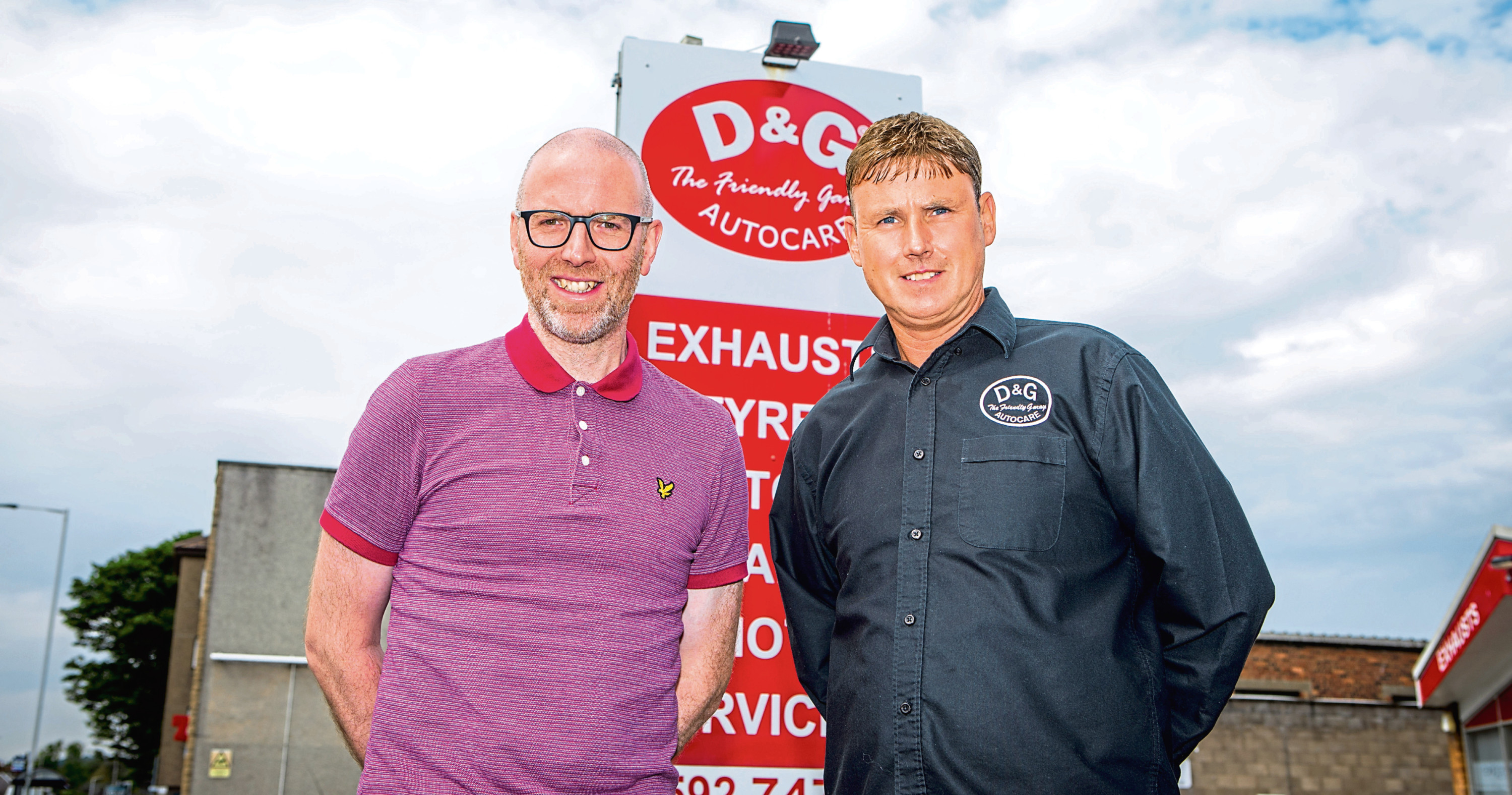 D&G Autocare owners David Hunter and George Simpson.
