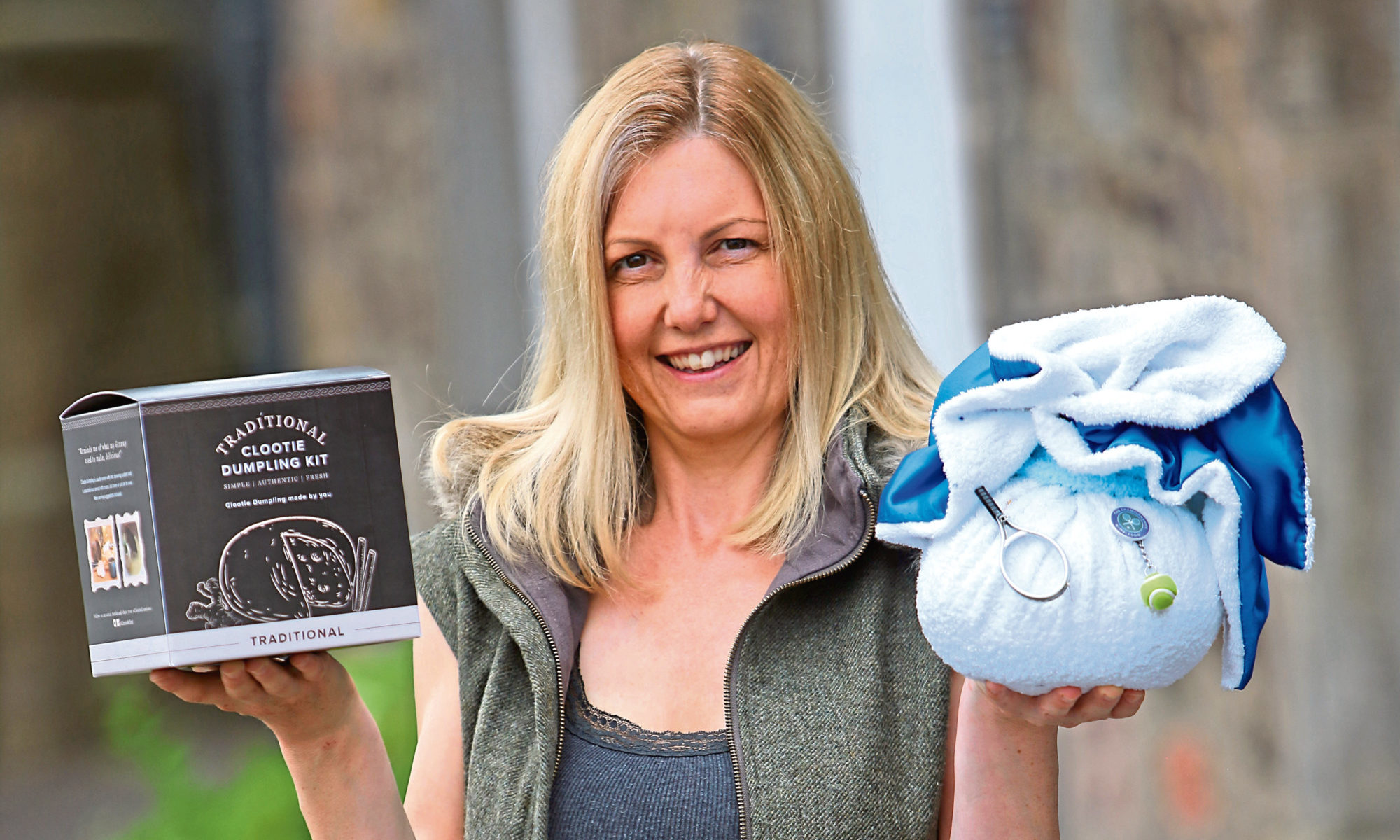 Clootie Mctoot founder Michelle Maddox with some of her company's products.