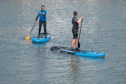 Gayle goes paddleboarding at a new venture in Stonehaven.