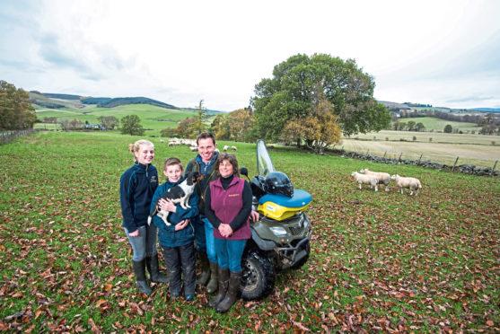 Last year's sheep award winners the McGowan family on Incheoch Farm near Alyth.
