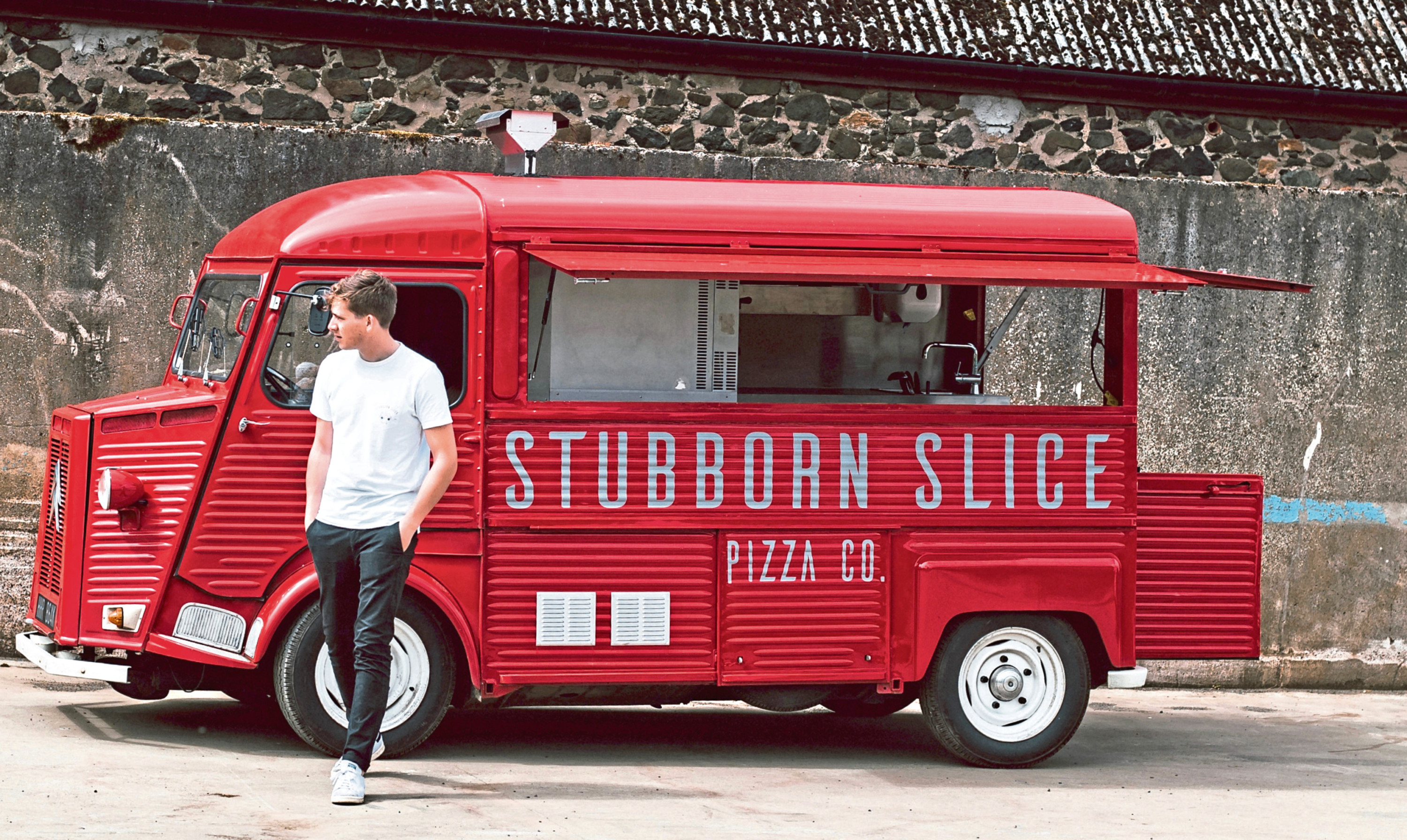 George Lorimer, owner of Stubborn Slice