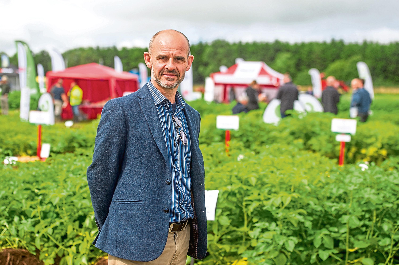 Professor Ian Toth, director of Scotland's Plant Health Centre, at Balruddery Farm.