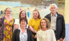 Some of the new artists for this year: back, left to right, Ann Marie Reoch, Pauline MacLean, Ionagh MacLean, Anthony Shellard; front, Carol McLements and Gillian Wight.