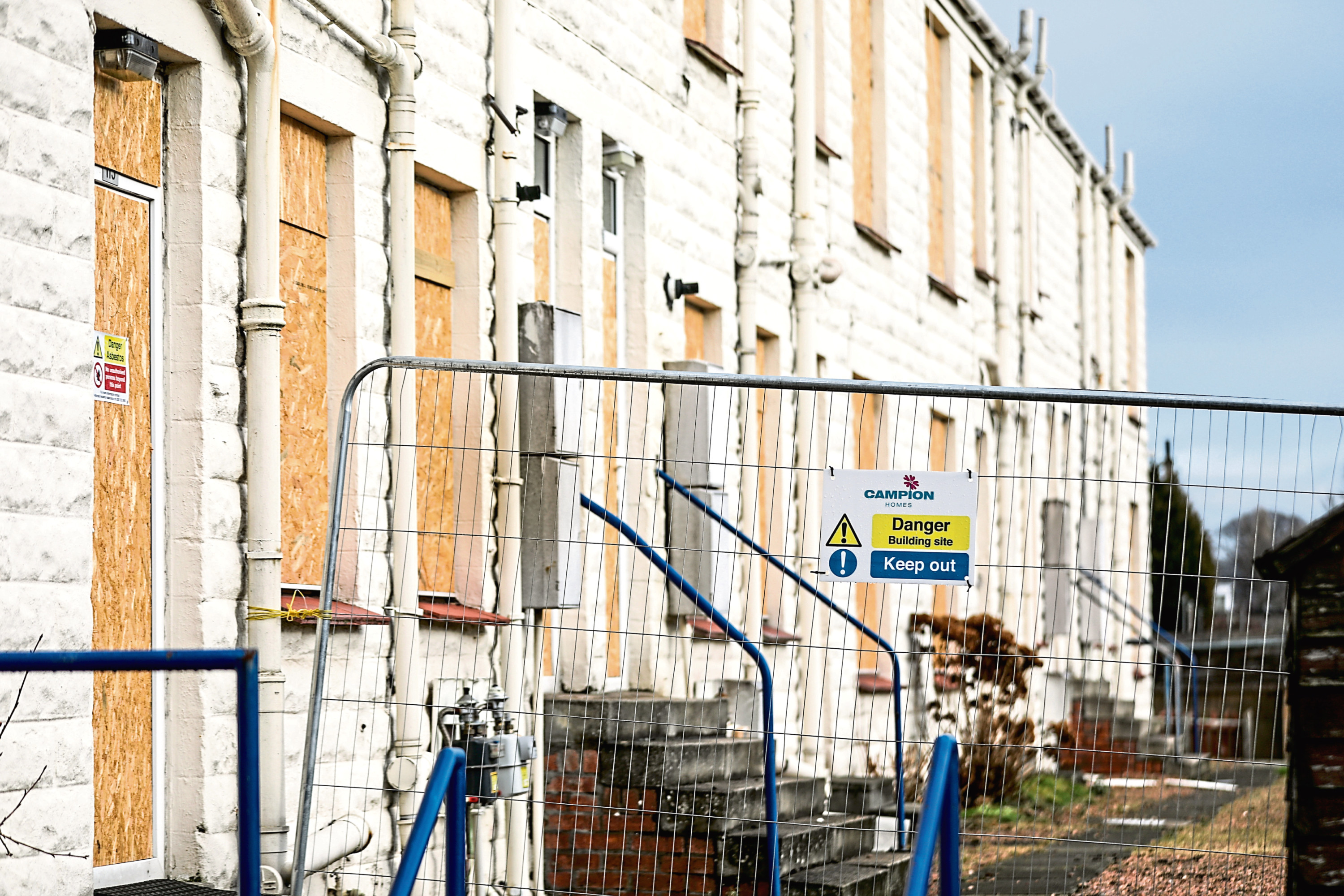Hillcrest's boarded-up properties at Ellengowan Drive in Dundee.