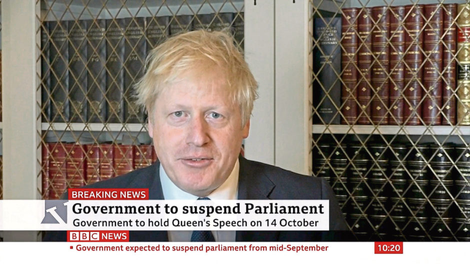 Boris Johnson asked the Queen to suspend parliament so the UK government could prepare a Queen's speech.