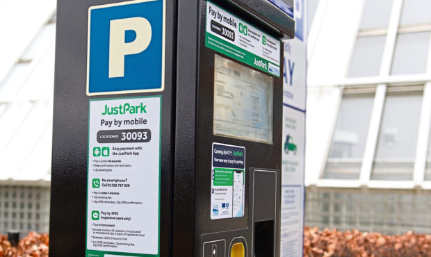 One of the JustPark meters.