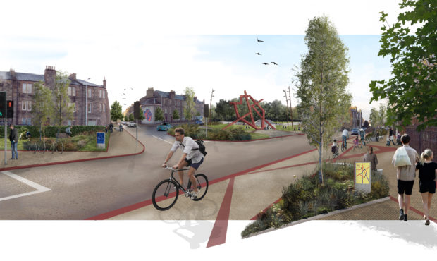 How Dunkeld Road could look at the Balhousie junction