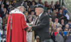 Sir Mel Jameson receives The Freedom of the City of Perth from Provost Dennis Melloy
