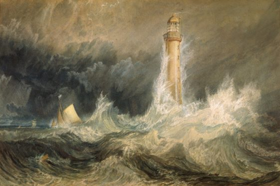 Turner's painting of the Bell Rock.