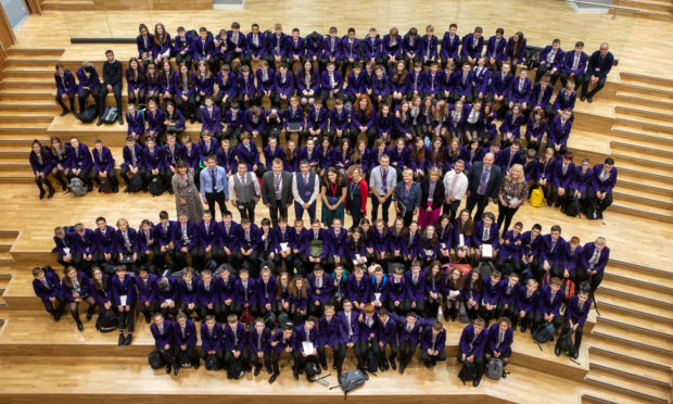 Headteacher Stuart Clyde opened the doors to 1st and 2nd year pupils at the brand new high school in Perth today.
