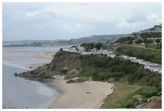 Pettycur Bay, Kinghorn, where police have targeted Illegal shellfish rustling.