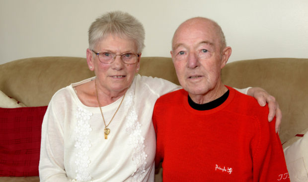 Tom Reid pictured with his wife Myra.