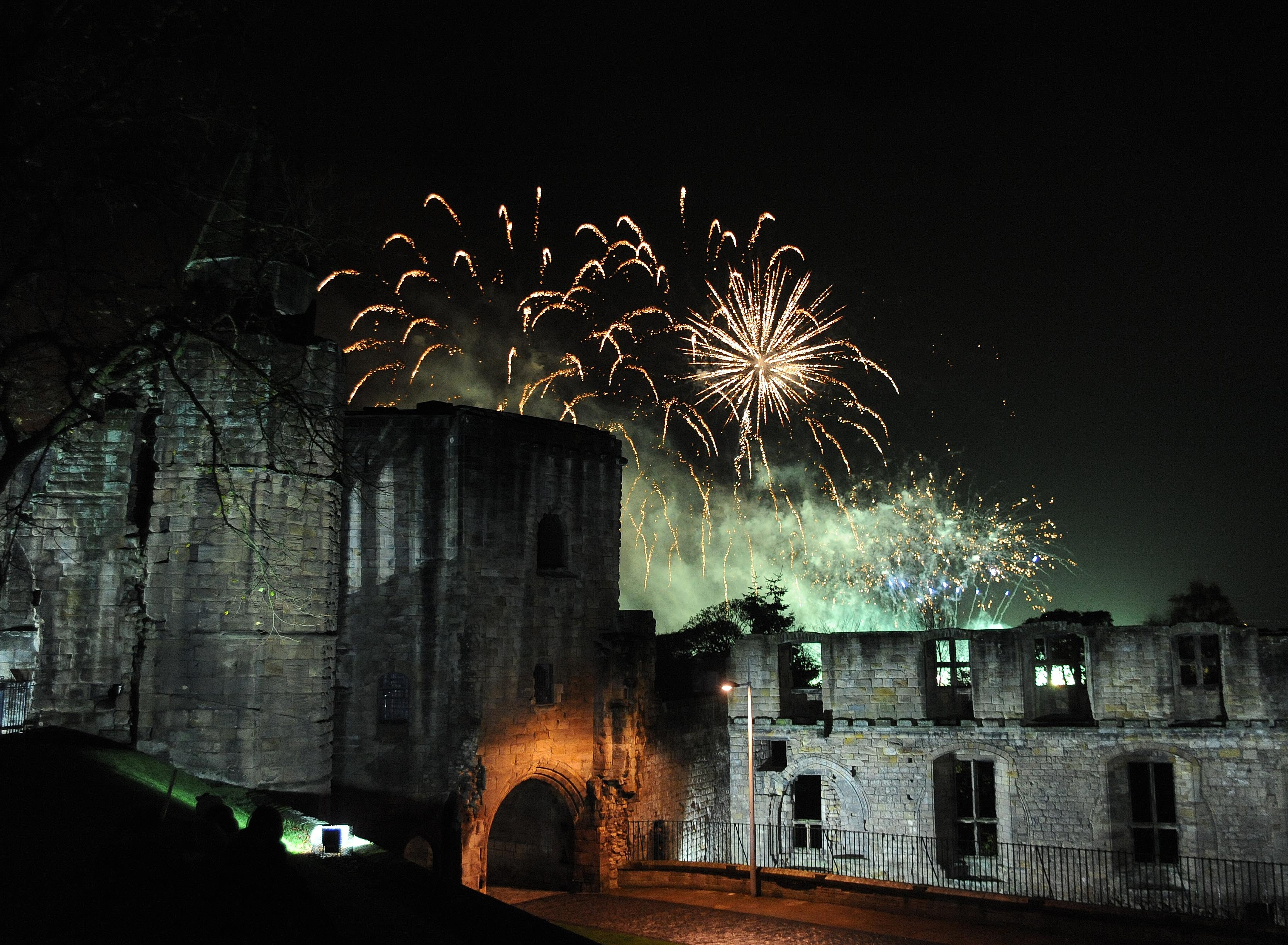 Dunfermline fireworks taken at the Abbey Palace.
