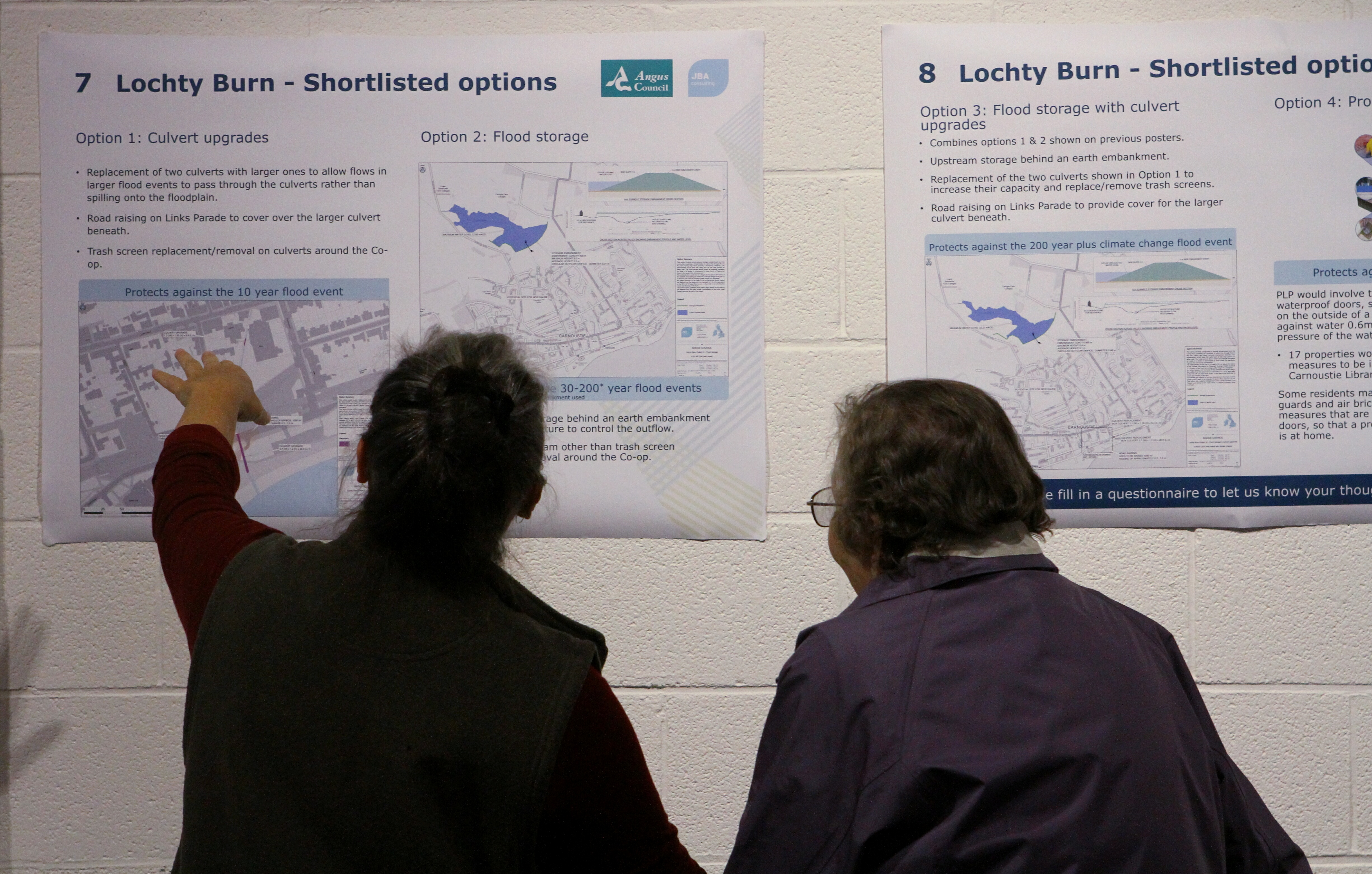 The flood study plans went on show in Carnoustie library.