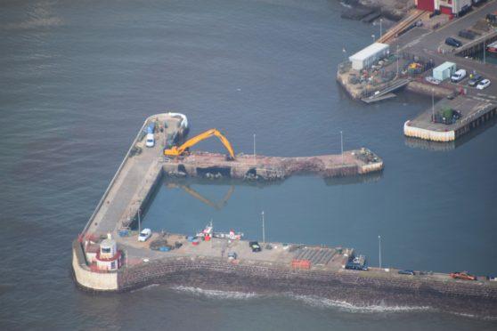 UK Civil Air Patrol observer Bruce Thomson captured the repair project progress.