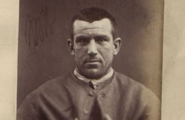 """David Ness, one of the few convicts of whom photos exist in the new database. He served time in prison for """"assault with intent to ravish""""."""