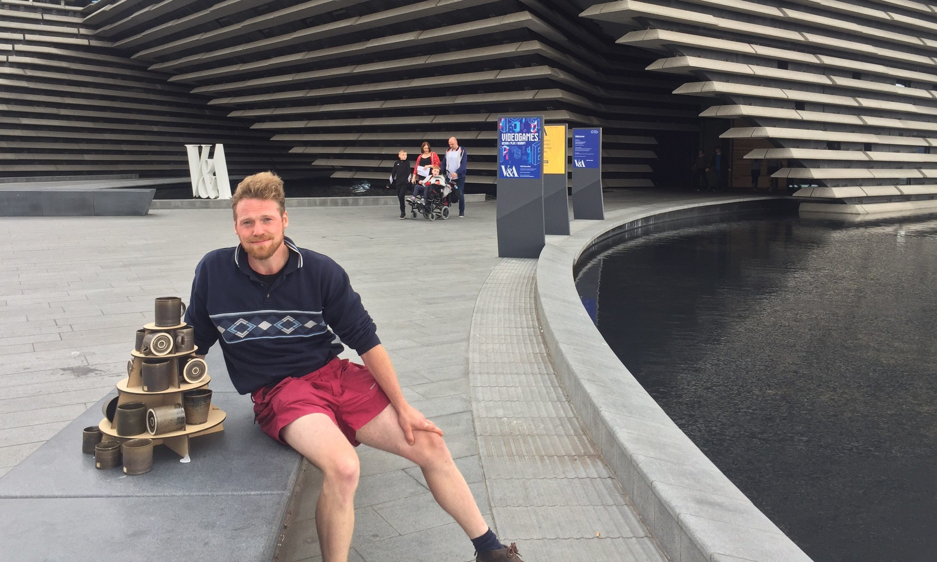 Stephen Winstanley outside V&A Dundee
