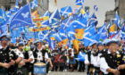 AUOB held a similar march in Aberdeen.
