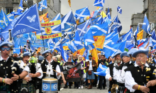 AUOB held a similar march in Aberdeen.