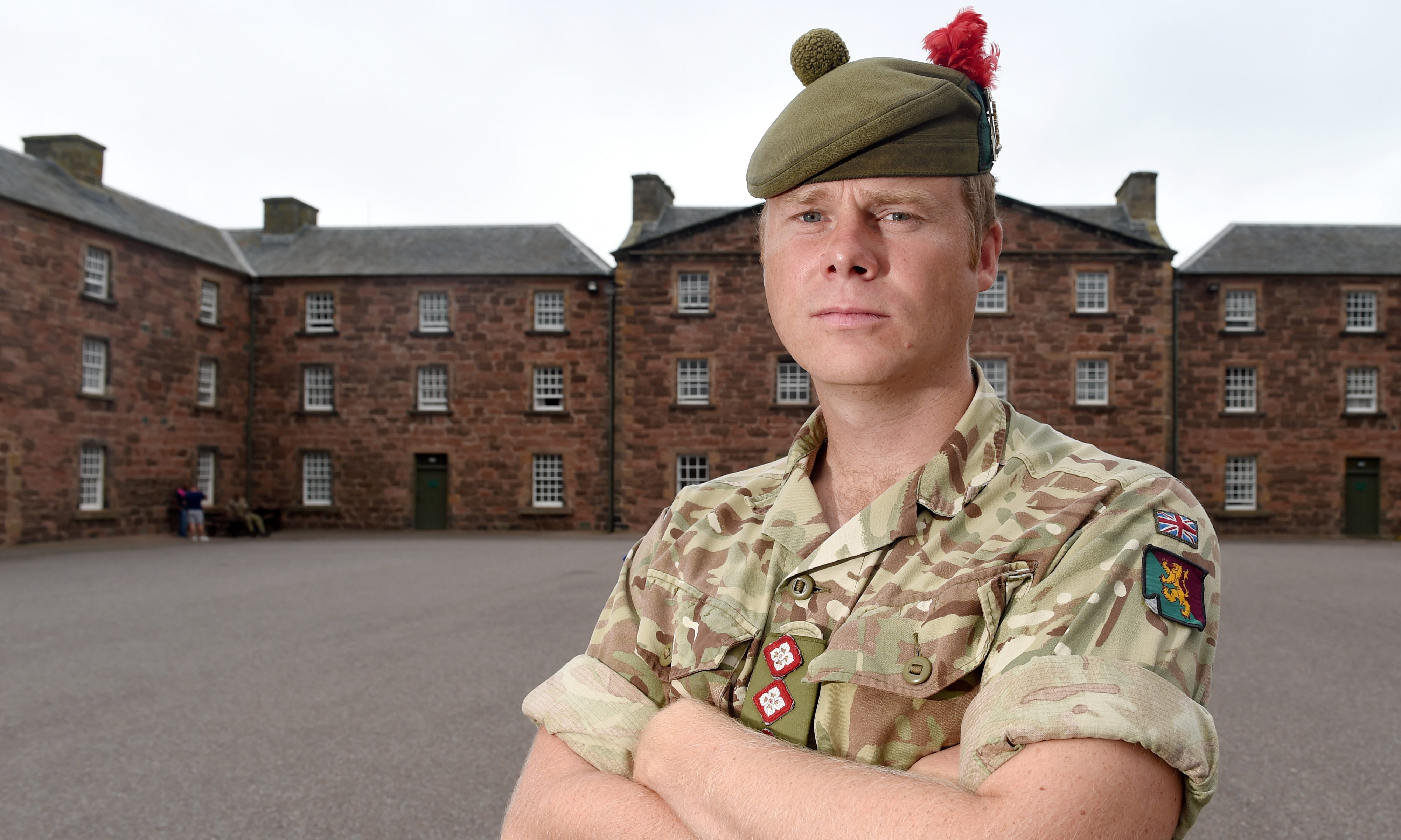 Captain Robbie Crook of 3 Scots at Fort George