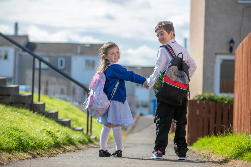 Michael and Charlotte are excited to be starting school