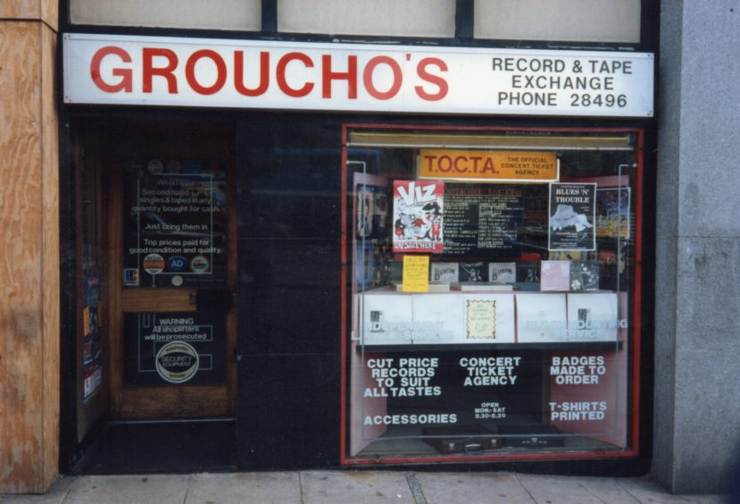 Groucho's on Dundee's Marketgait in the 1980s.
