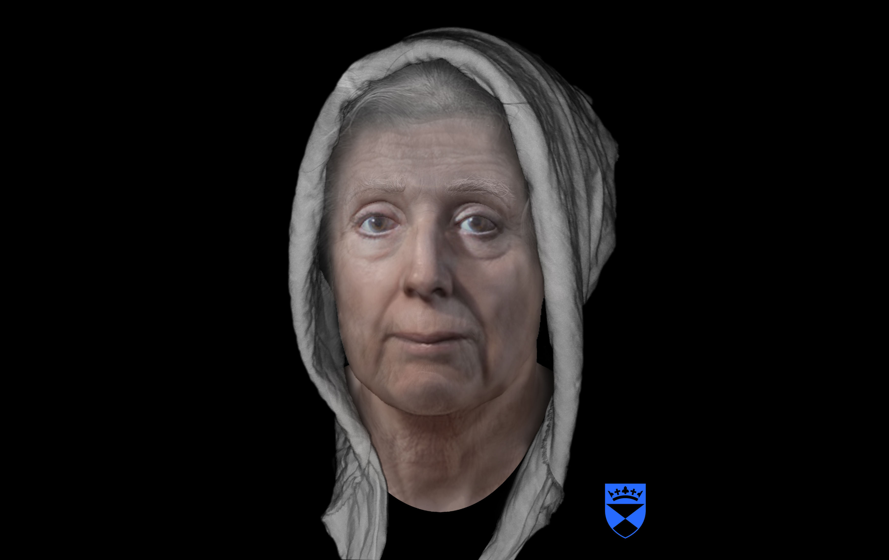 "The digitally reconstructed face of an 18th-century ""witch"" Lilias Adie as she may have appeared  in the early 1700s, who died in jail before she could be burned for her ""crimes""."