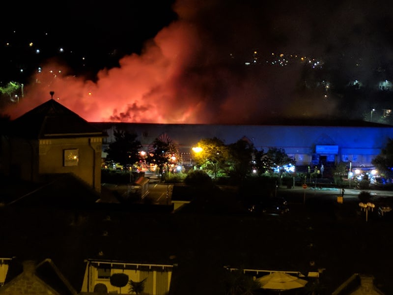 The Fire at St Catherine's Retail Park.
