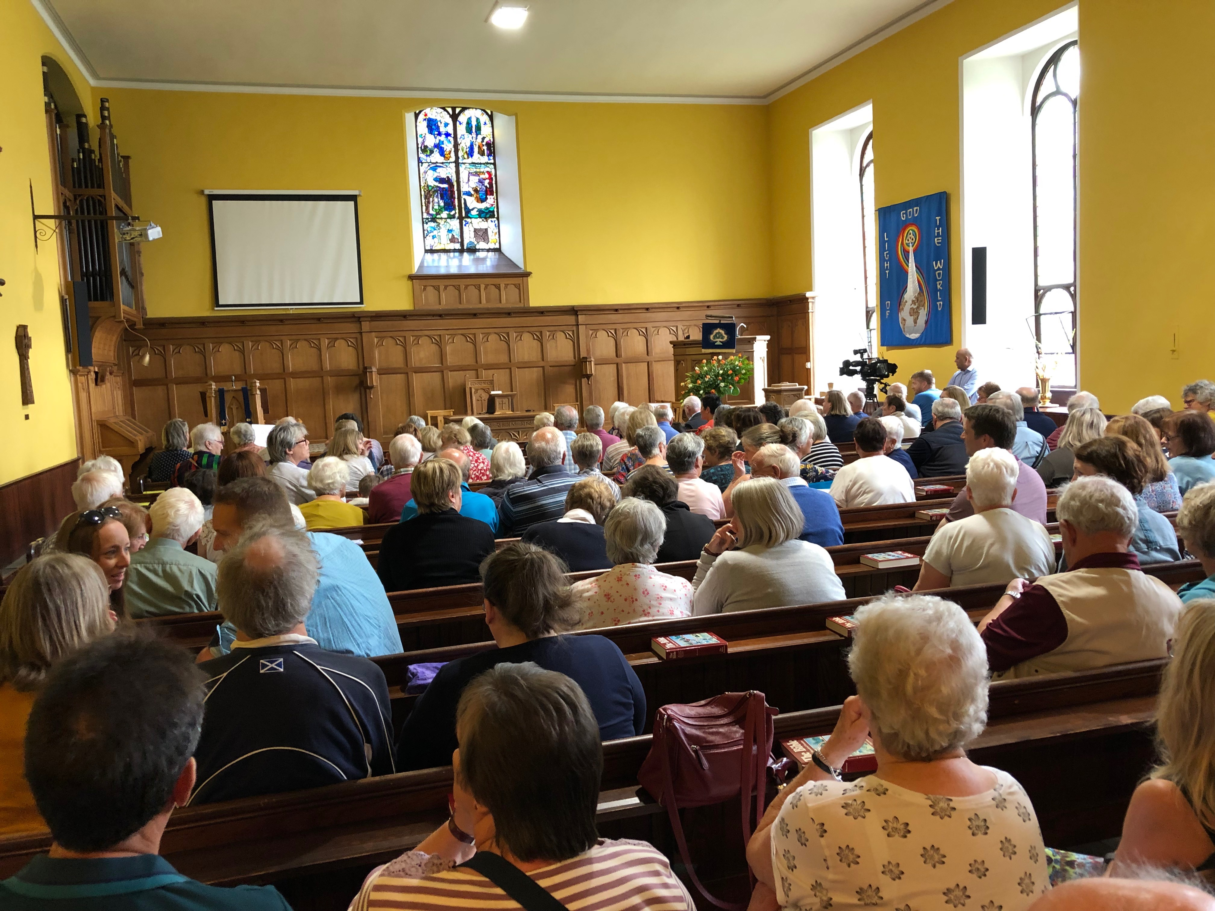 Residents packed out a meeting to discuss Bridge of Earn GP services earlier this year