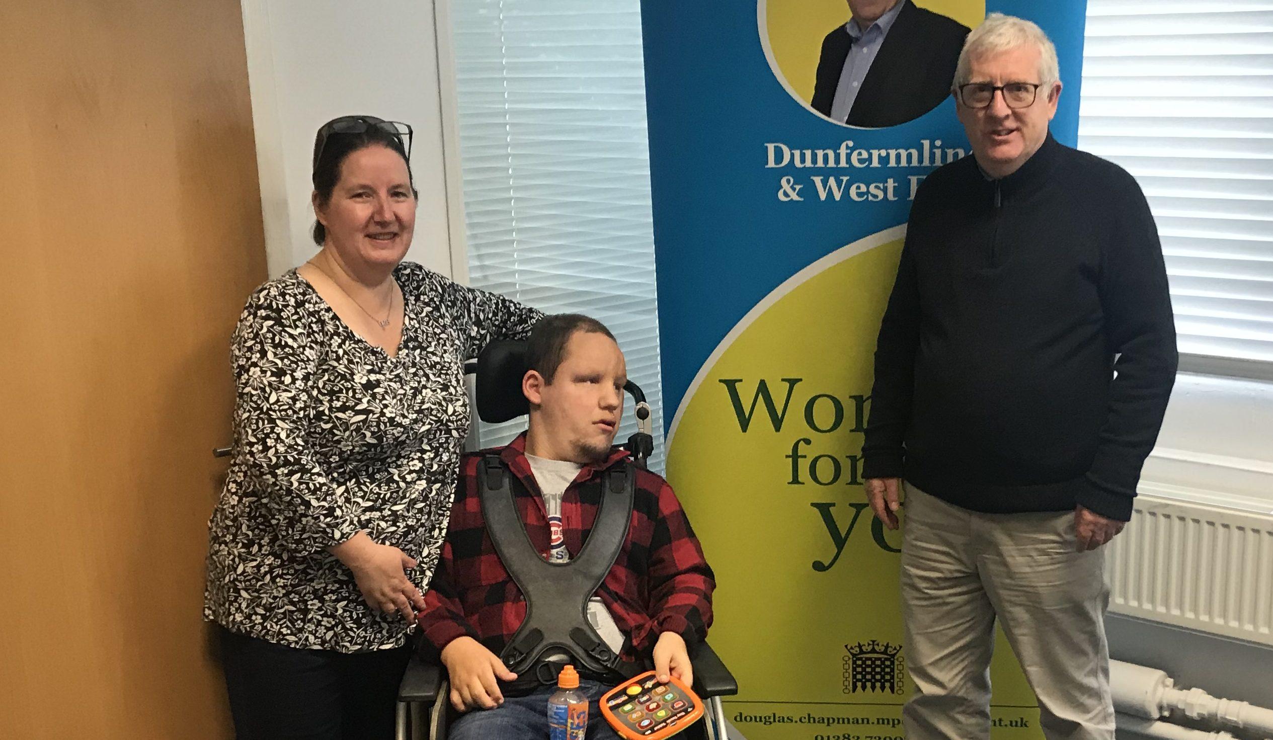 Fiona and Jonathan with Douglas Chapman