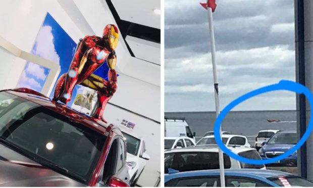 The Iron Man baloon narrowly avoided Endgame thanks to the Coastguard.