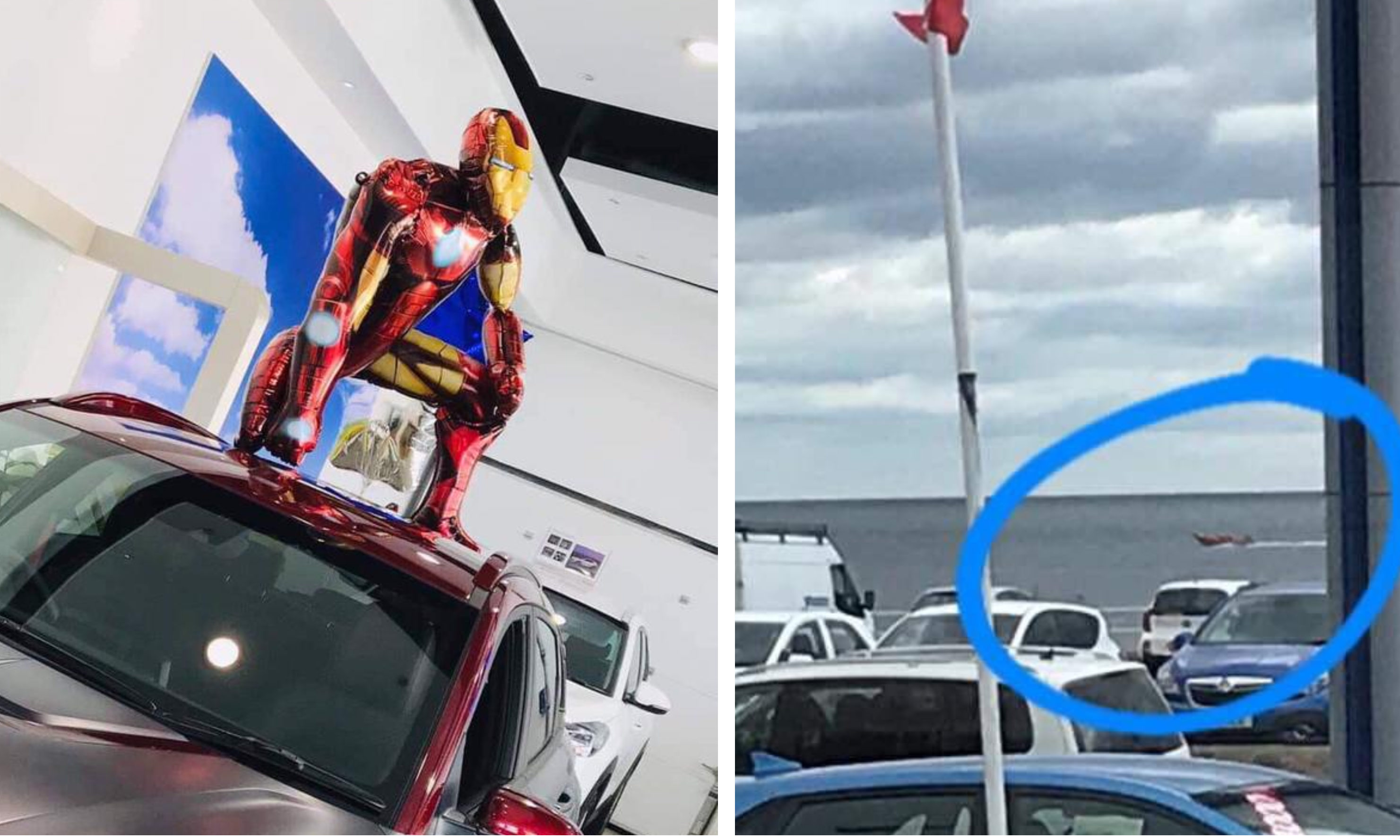 The Iron Man baloon narrowly avoided Endgame thanks to the Coastguard.