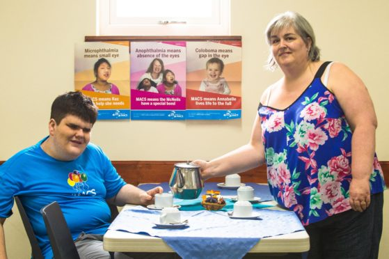 Joe Carberry, 17, and his mum Michelle.