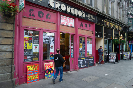 Courier News - Dundee  - Jake Keith story; CR000**** Groucho's record store is to close. Picture Shows; general view (GV) of the exterior, Gorucho's, Nethergate, Dundee, Friday 31st August 2018