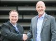 Ian Roache with United owner Mark Ogren.
