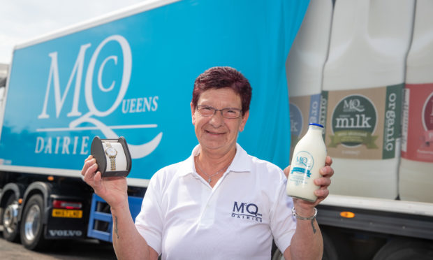 Davina has been a milk lady for 40 years.