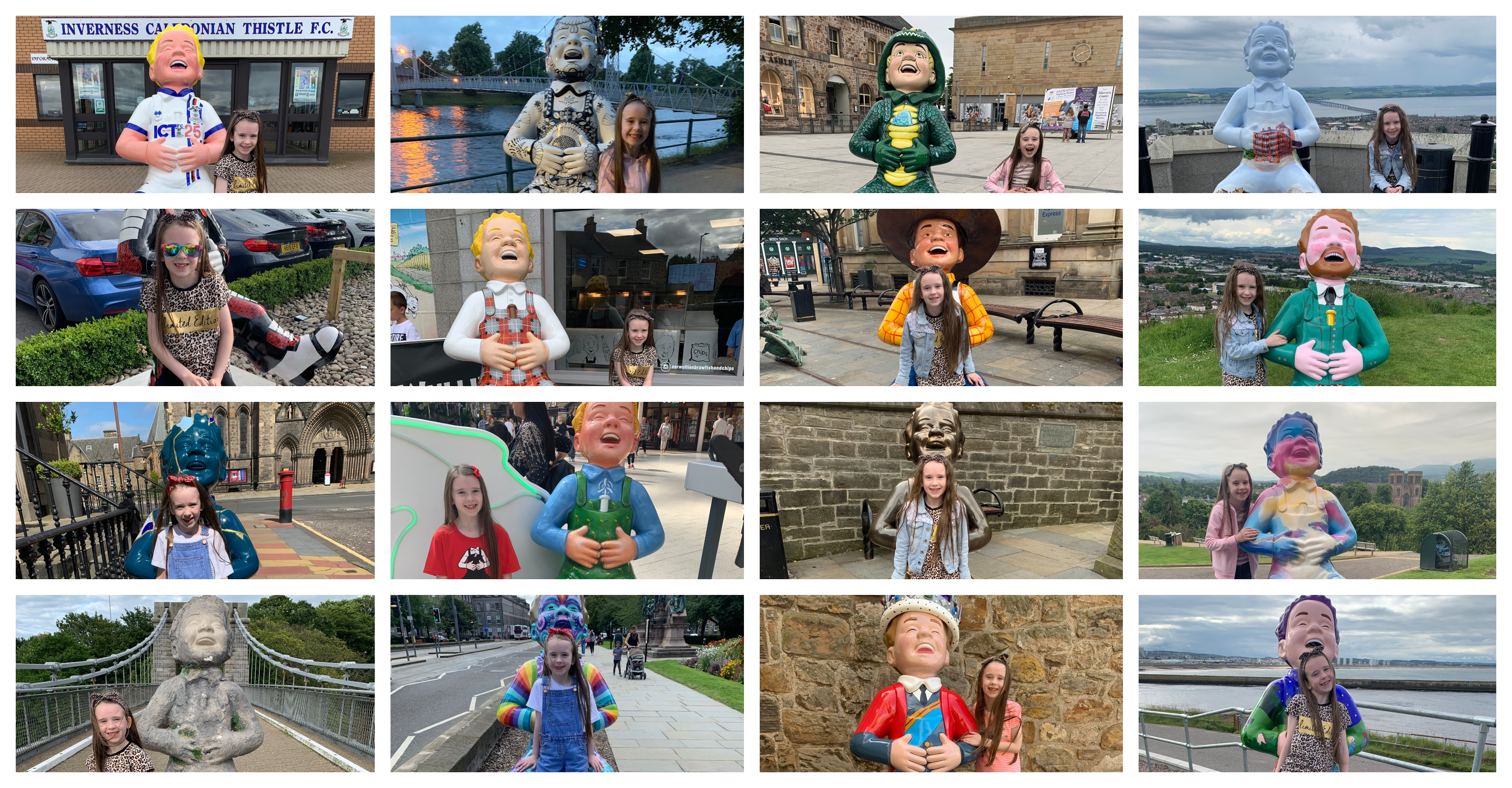 Catherine Letford spent her summer holidays visiting all 200 statues on the Oor Wullie Big Bucket Trail.