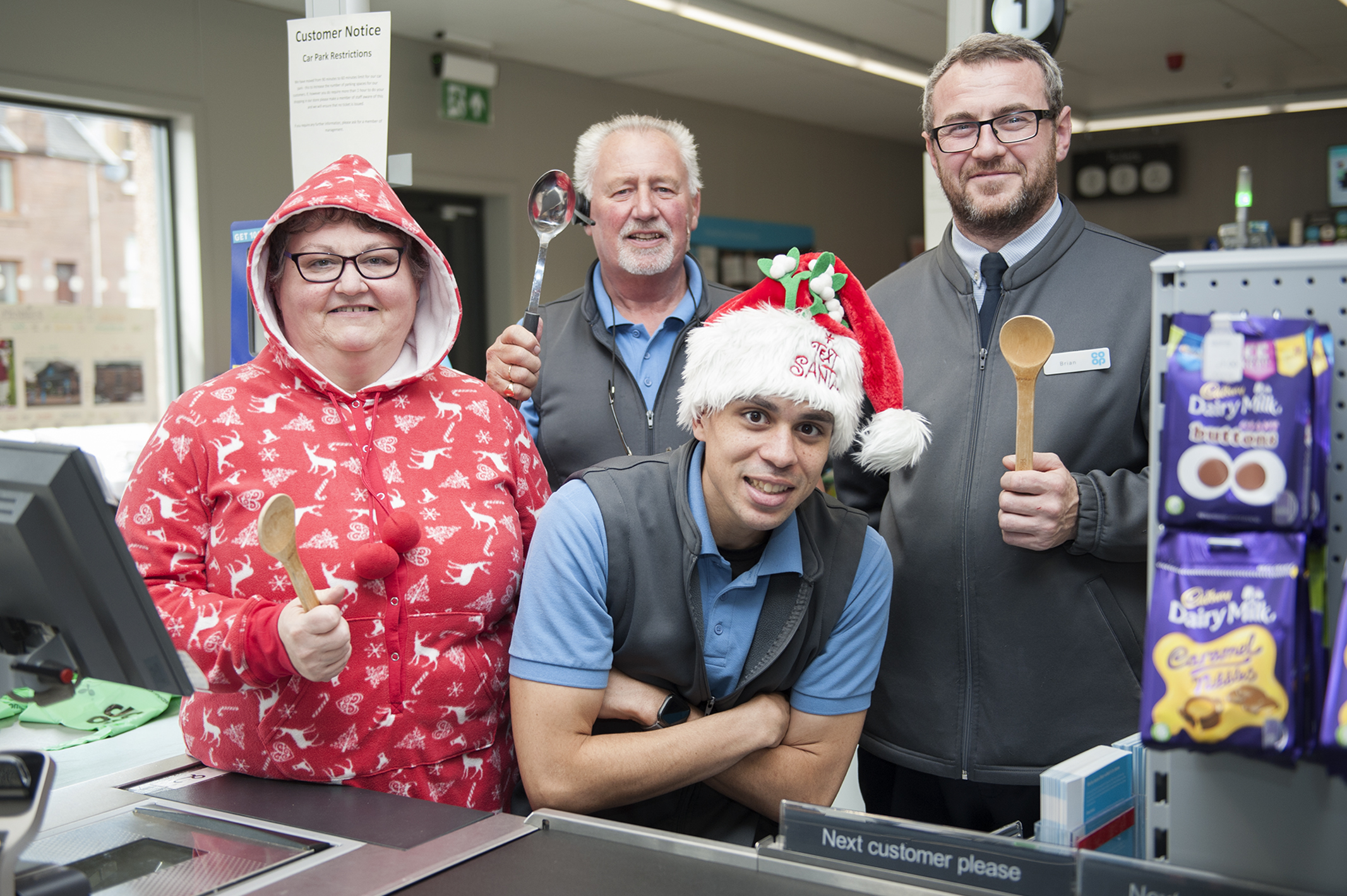 Heather Kelly, John Downie, Brian Aberdeen and Rory Devaughn, are hoping to cook up a treat for those facing Christmas day alone.