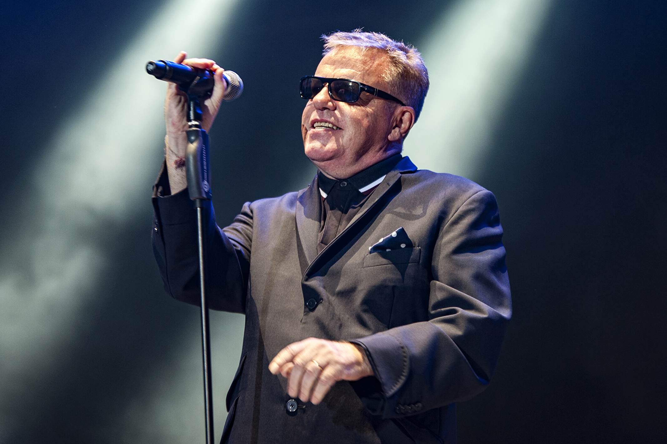 Suggs on stage on Saturday night.