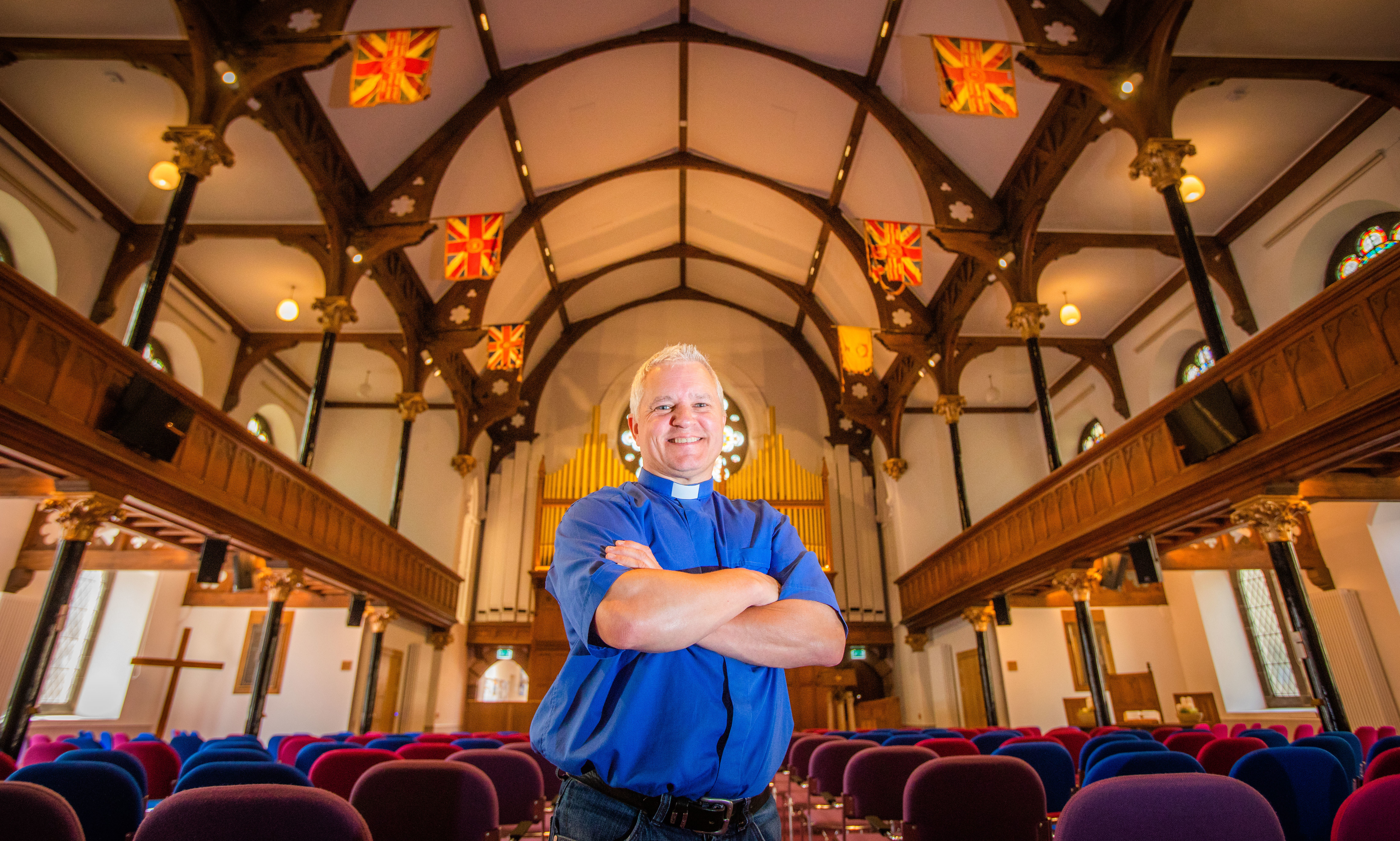 Rev Scott Burton at the recently refurbished St Matthews Church