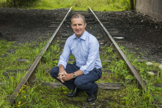 Transport Minister Michael Matheson announced the rail link would reopen.