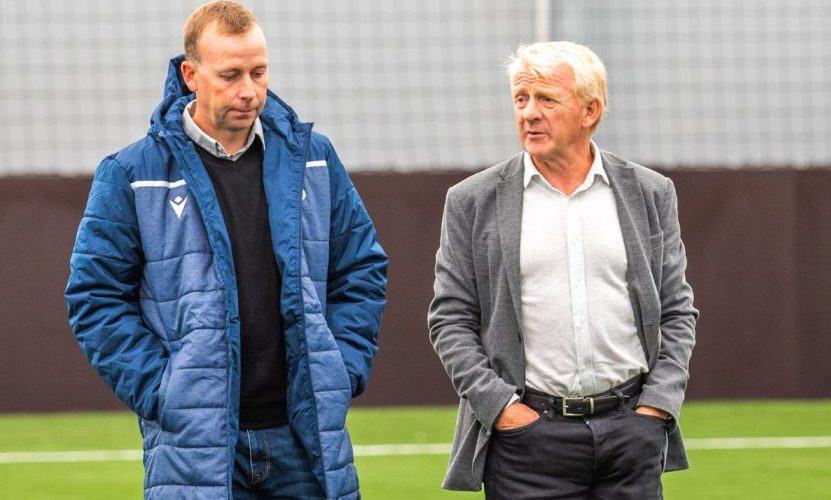 Gordon Strachan, right, and Dundee's Head of Academy Stephen Wright at the new Regional Performance Centre.