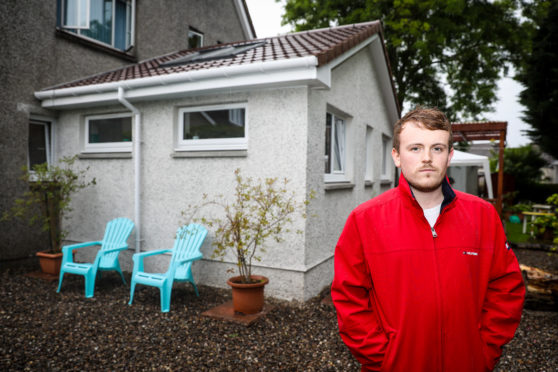 Frankie Moran outside his extension.