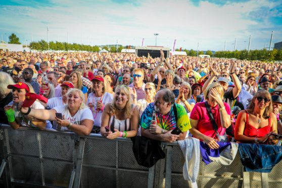 Crowds at the concert.